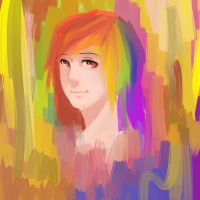 Color warm-up with rainbowdash by ChocolateKnife