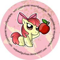 Apple Bloom Chibi Badge by RedPawDesigns