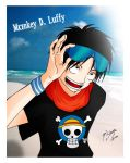 Monkey D. Luffy Color by Shinta-Girl