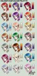 My hair colour palette by Volvom