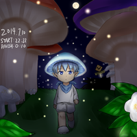 [KUROBAS] Mushroom Elf at night by USAKI13