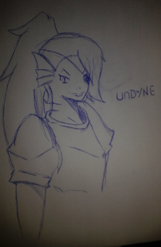 Undyne First Try by Marcos1094