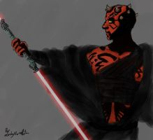 DARTH MAUL by LadyNorthstar