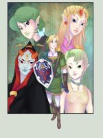 Zelda: Link and his women by RoroZoro