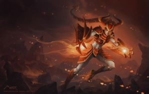 Shyvana - Leeague of legends by Vaejoun