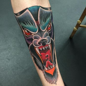 Evil Wolf Tattoo by itchysack