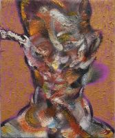 Study for Egon Schiele on Gold and Purple by RyckRudd