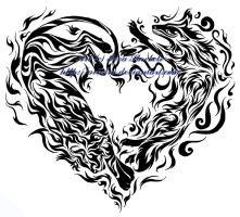 Fire and Air Heart Tribal by Avestra