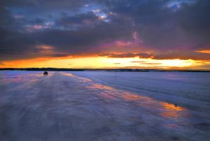 Driving on the lake by matophoto