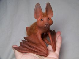 ooak fuzzy bat by AmandaKathryn