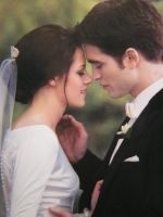 Edward and Bella before the kiss by AvaBloom