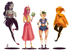 Adventure Time Girls by Jimmy-ilustra