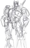 Another Optimus Prime Sketch Warm-Up by ConstantM0tion