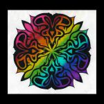 Rainbow Demon Rose by VioletRosePetals