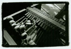 Hand et piano hammers by sweaterwoolf