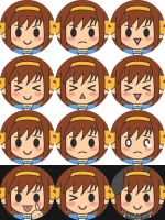 Badge Set '09 - Haruhi by XCurarpiktX