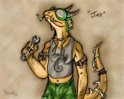 Jae the Lizard by syrcaid