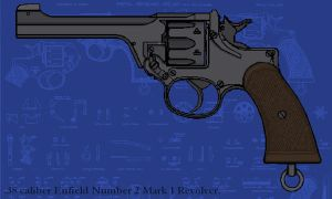 Enfield Service Revolver by linseed