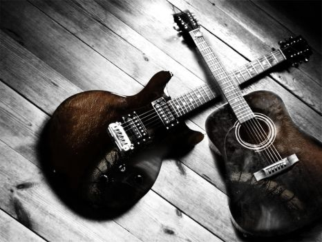 guitars and eyes by ccinol