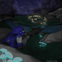 Halo : Night hunt by Chocolace