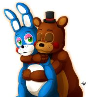Toy Freddy and Toy Bonnie by ill825