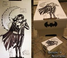 Batgirl + Nightwing Comic Box by L0C0CH0C0B0