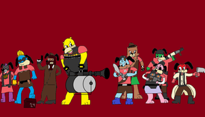 Toon Fortress 2 - Crossover Edition by Mariolover54321