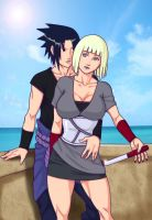 Sasuke and Samui by R3YDART