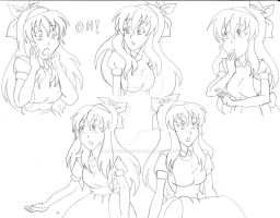 Yuna Alice doodles by AdentheCaringOne