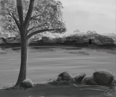 Lake Speedpaint by catpuccinos