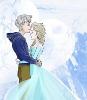 Jack Frost X Elsa Happy Valentine's Day! by xYaminogamex