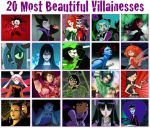Top 20 Most Beautiful Villainesses by PurfectPrincessGirl