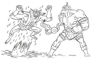Mer-Man and Trapjaw by Andrew-Ross-MacLean