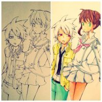 Soul E Maka Copic :3 by Bluer-Blu