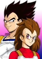 Vegeta and Articha by maga-a7x