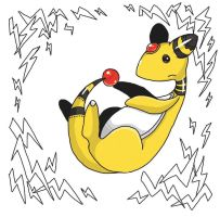 Ornate Pokemon: Ampharos by StacheRabbit