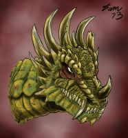 Anguirus, somewhat Dragony by kaijukid