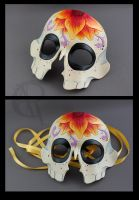 Sugar Skull Mask - Flower by owlspeckles