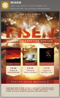 Risen Church Flyer Template by loswl