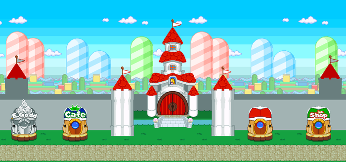 [Sprite Background] Peach Castle Revamp v2 by CamAditia