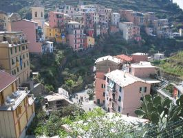 cinque terre houses 1 by ingeline-art