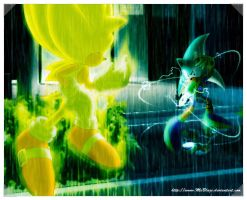 Hydro Azurine vs. Super Sonic by SidusPrime