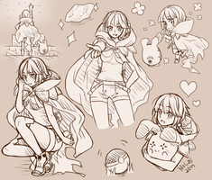 Zinnia Sketch Page by NoShio