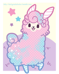 TPS: Kyandi the Cotton Candy Llama by MoogleGurl