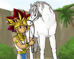 A Pharaoh and his horse by EvilChibiNic