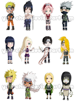 Chibi Naruto Stickers by Yzu-chan