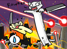 LONG CAT WARS by NCH85