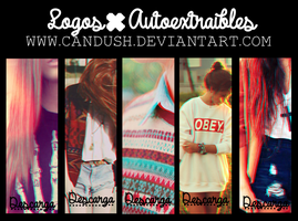 Logos autoextraibles - By, Candush by Candush