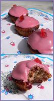Cherry cupcakes by Melhyria