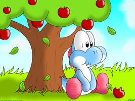 Yoshi Wuvz Fruit 1. by BreakingCloud